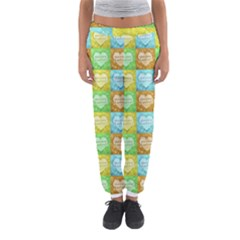Colorful Happy Easter Theme Pattern Women s Jogger Sweatpants