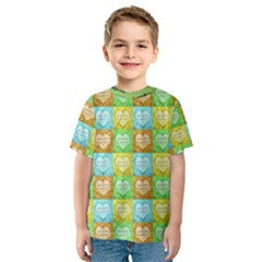 Colorful Happy Easter Theme Pattern Kids  Sport Mesh Tee