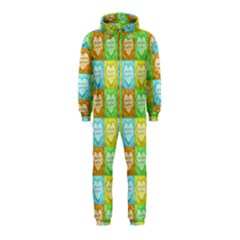 Colorful Happy Easter Theme Pattern Hooded Jumpsuit (Kids)
