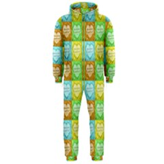 Colorful Happy Easter Theme Pattern Hooded Jumpsuit (Men)
