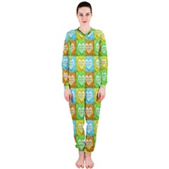 Colorful Happy Easter Theme Pattern OnePiece Jumpsuit (Ladies)