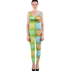 Colorful Happy Easter Theme Pattern OnePiece Catsuit
