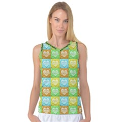 Colorful Happy Easter Theme Pattern Women s Basketball Tank Top