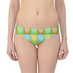 Colorful Happy Easter Theme Pattern Hipster Bikini Bottoms