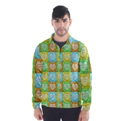 Colorful Happy Easter Theme Pattern Wind Breaker (Men)