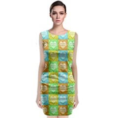 Colorful Happy Easter Theme Pattern Classic Sleeveless Midi Dress