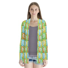 Colorful Happy Easter Theme Pattern Cardigans