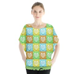 Colorful Happy Easter Theme Pattern Blouse