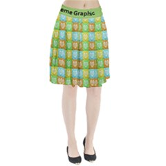 Colorful Happy Easter Theme Pattern Pleated Skirt