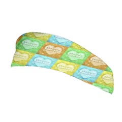 Colorful Happy Easter Theme Pattern Stretchable Headband