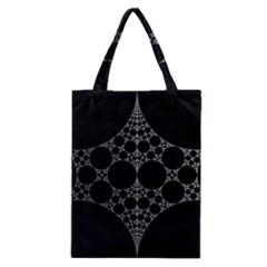 Drawing Of A White Spindle On Black Classic Tote Bag