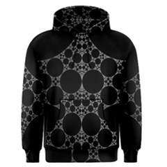 Drawing Of A White Spindle On Black Men s Pullover Hoodie