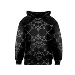 Drawing Of A White Spindle On Black Kids  Pullover Hoodie