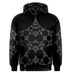Drawing Of A White Spindle On Black Men s Zipper Hoodie