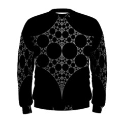 Drawing Of A White Spindle On Black Men s Sweatshirt