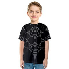Drawing Of A White Spindle On Black Kids  Sport Mesh Tee