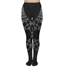 Drawing Of A White Spindle On Black Women s Tights