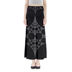 Drawing Of A White Spindle On Black Maxi Skirts
