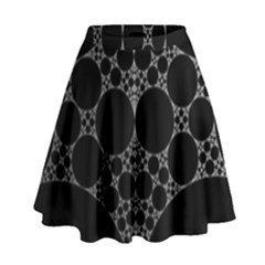 Drawing Of A White Spindle On Black High Waist Skirt