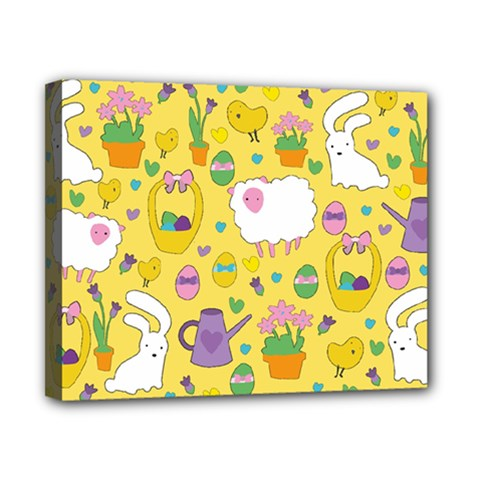 Cute Easter pattern Canvas 10  x 8