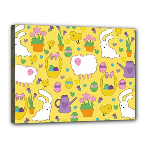 Cute Easter pattern Canvas 16  x 12