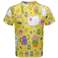 Cute Easter pattern Men s Cotton Tee