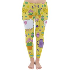Cute Easter pattern Classic Winter Leggings