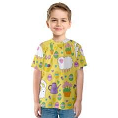 Cute Easter pattern Kids  Sport Mesh Tee