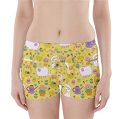 Cute Easter pattern Boyleg Bikini Wrap Bottoms