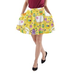 Cute Easter pattern A-Line Pocket Skirt