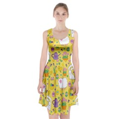 Cute Easter pattern Racerback Midi Dress