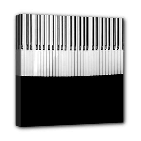 Piano Keys On The Black Background Mini Canvas 8  x 8