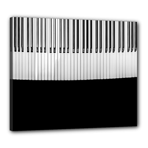 Piano Keys On The Black Background Canvas 24  x 20