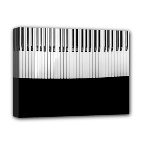 Piano Keys On The Black Background Deluxe Canvas 16  x 12