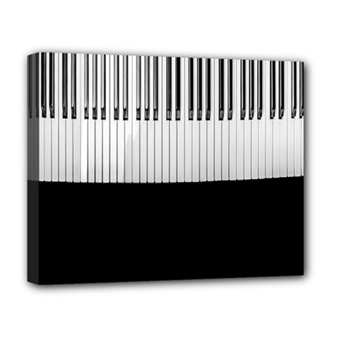 Piano Keys On The Black Background Deluxe Canvas 20  X 16