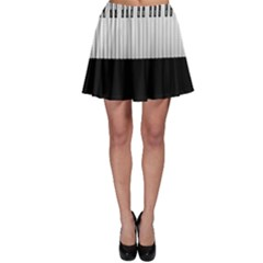 Piano Keys On The Black Background Skater Skirt