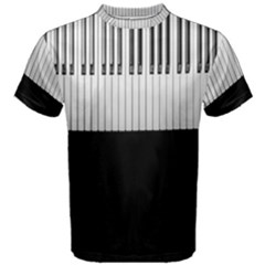 Piano Keys On The Black Background Men s Cotton Tee