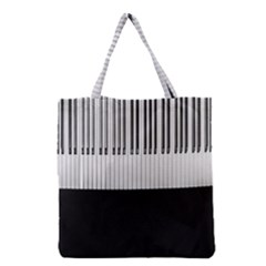 Piano Keys On The Black Background Grocery Tote Bag