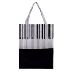 Piano Keys On The Black Background Classic Tote Bag