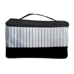 Piano Keys On The Black Background Cosmetic Storage Case