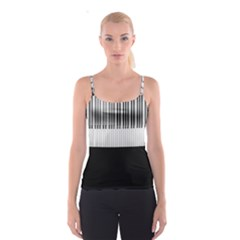 Piano Keys On The Black Background Spaghetti Strap Top