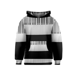 Piano Keys On The Black Background Kids  Pullover Hoodie