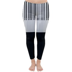 Piano Keys On The Black Background Classic Winter Leggings