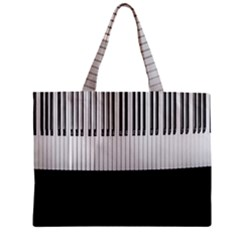Piano Keys On The Black Background Zipper Mini Tote Bag