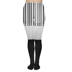 Piano Keys On The Black Background Women s Tights