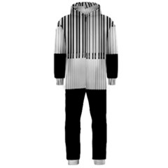 Piano Keys On The Black Background Hooded Jumpsuit (Men)