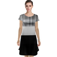 Piano Keys On The Black Background Cap Sleeve Nightdress