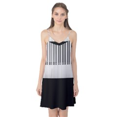 Piano Keys On The Black Background Camis Nightgown