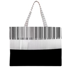 Piano Keys On The Black Background Large Tote Bag