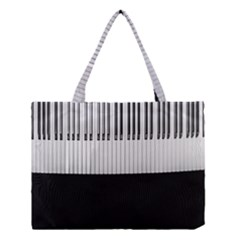 Piano Keys On The Black Background Medium Tote Bag